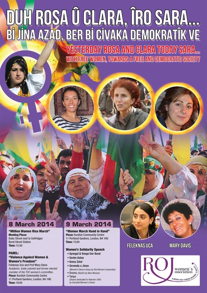 Roj Womens 8 Mart A3 Poster