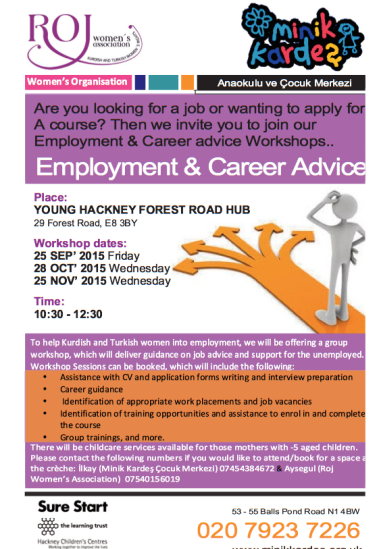Career and employment advice leaflet